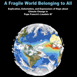 A Fragile World Belonging to All exhibit poster