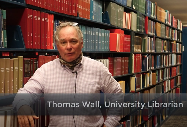 Tom Wall, University Librarian
