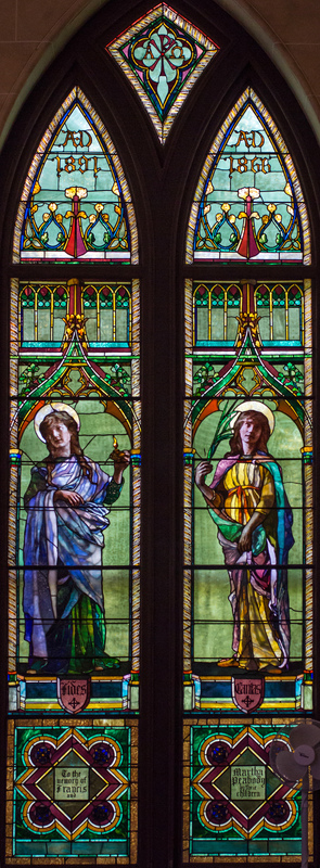 Faith and Charity, Francis and Martha Peabody Memorial Windows
