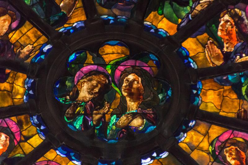 Saints in Glory, Rose Window