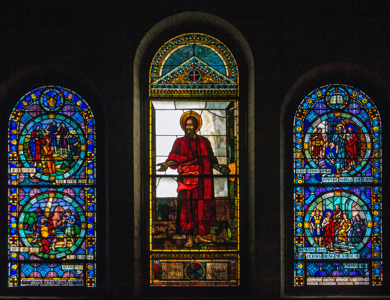St. Paul Preaching at Athens, Reverend Samuel P. Parker Memorial Window