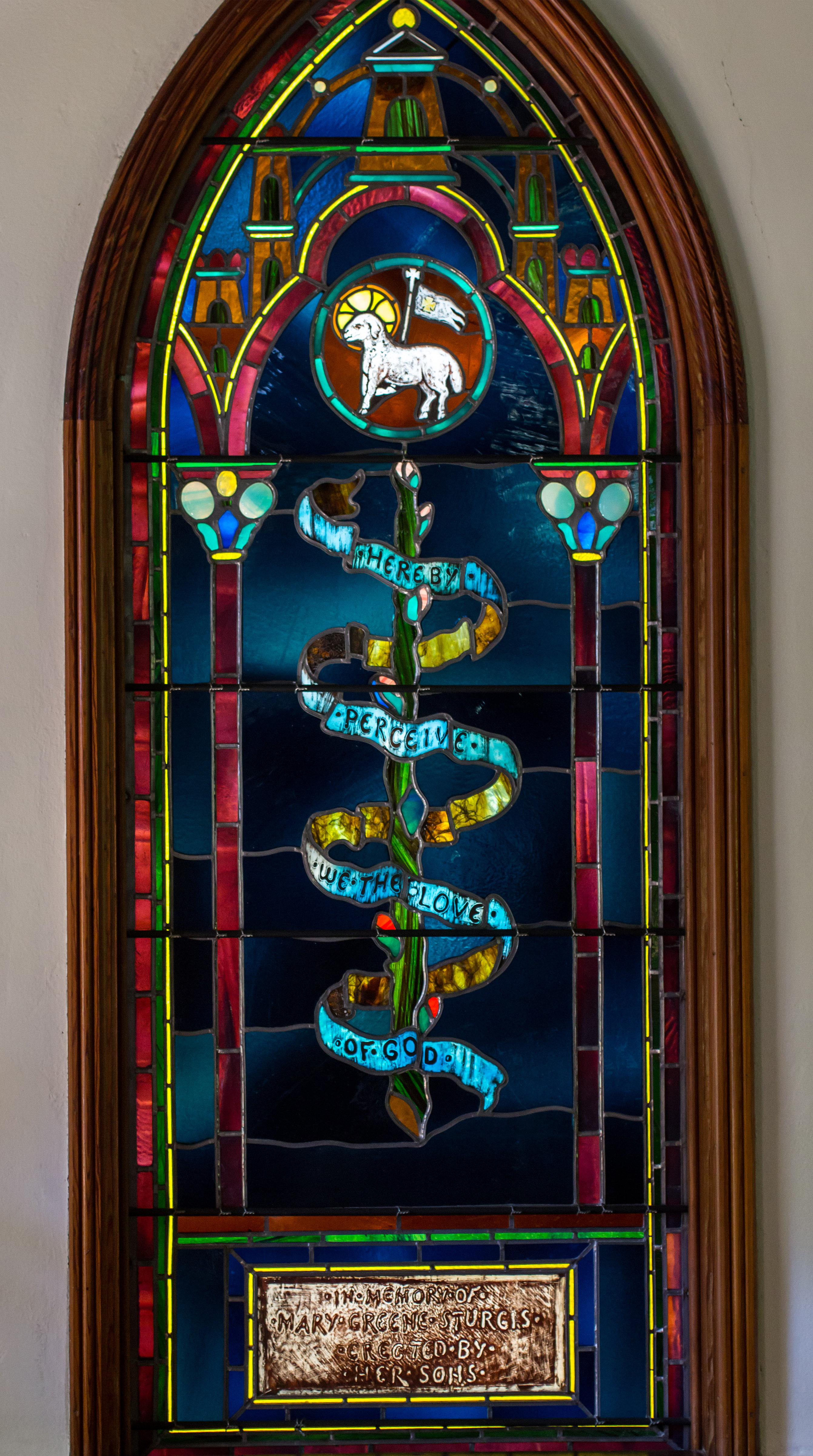 St Mary College >> Mary Greene Memorial Window · John La Farge Stained Glass