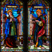 St. Barnabas and the Virgin, Rev. Barnabas Bates Memorial Window