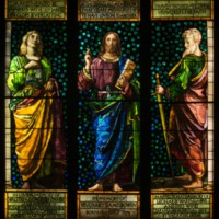 Christ between the Apostles John and Paul (Christ Preaching)