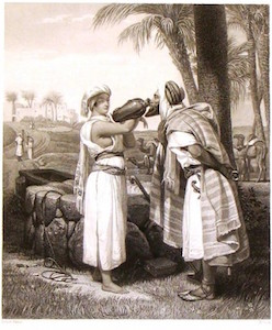 Horace Vernet: Rebecca and Eliezer at the Well, 1835. Location unknown.