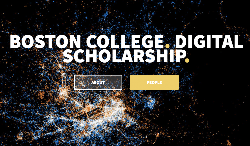 Screenshot of the new Digital Scholarship site