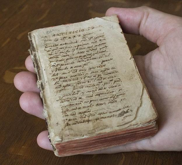 A small, hand sized manuscript