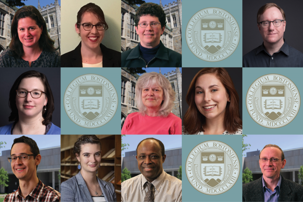 Photos of 11 BC Library staff arranged in a rectangle