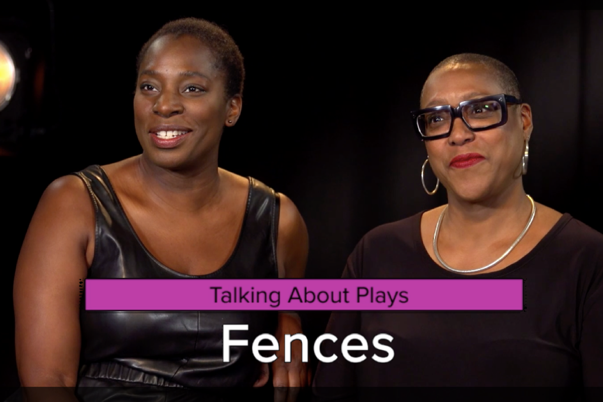Still from an interview with Paulette Randall and Tanya Moodie about August Wilson's play Fences.