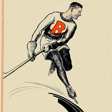 An illustration of a BC hockey player