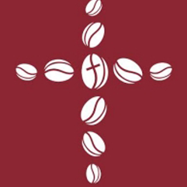 Illustration of coffee beans forming a cross