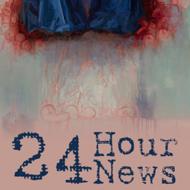 24 Hour News exhibit poster