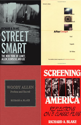 four of Professor Blake's book covers