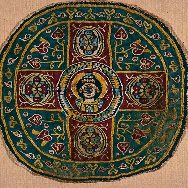 Textile roundel with nimbed bust