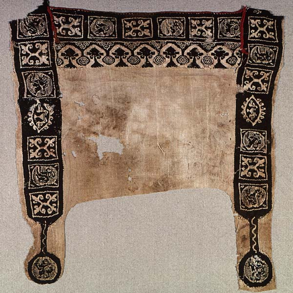 Fragment of decorated tunic