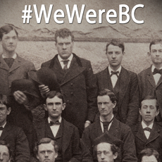 We Were BC Exhibit poster shows first class of BC students
