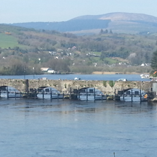 A photo of bridge with 13 arches, a subject of one of Connolly's songs