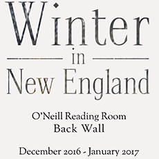 Winter in New England, O'Neill Reading Room Back Wall, December 2016 through January 2017