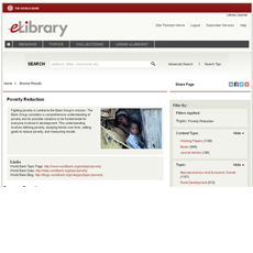 Screencapture of the World Bank eLibrary site
