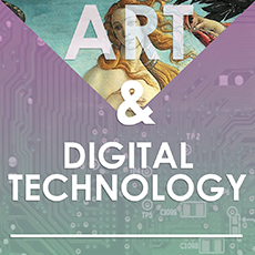 Poster for the Art and Digital Technology exhibit