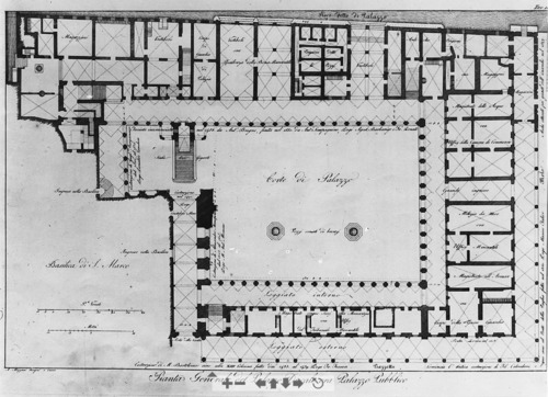 Plan of the ground floor of the palazzo ducale venetian art for Palazzo floor plan